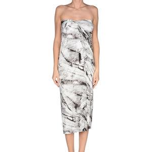 Helmut Lang Knee-Length Marble Drape Dress